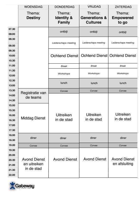 Programma GCE 2014